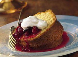 Almond Pound Cake with Cherry-Berry Sauce recipe