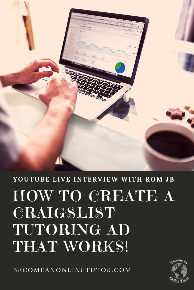 Create a Craigslist Tutoring ad that Works Interview with