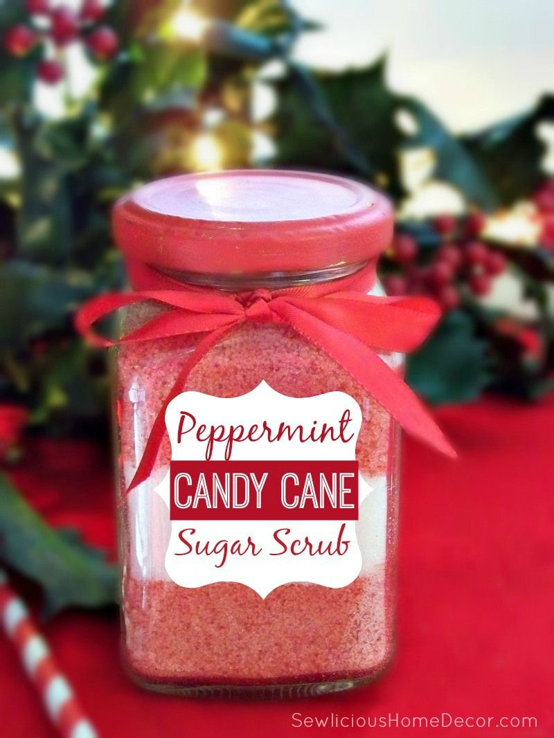 Peppermint Candy Cane Sugar Scrub with Labels | Rezept | Christmas ...