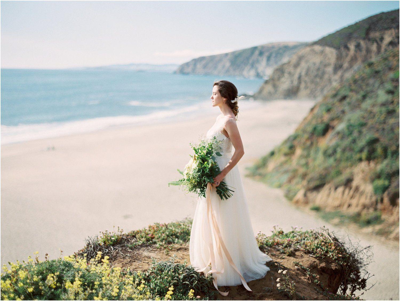 Point Reyes Wedding Film Photography Blueberry Bridal Portrait Session
