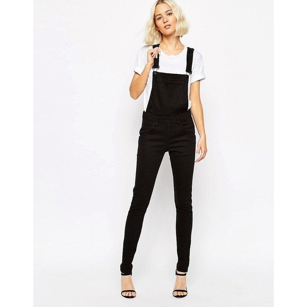 75c4ecd72657 Cheap Monday Skinny Dungaree ($93) ❤ liked on Polyvore featuring ...