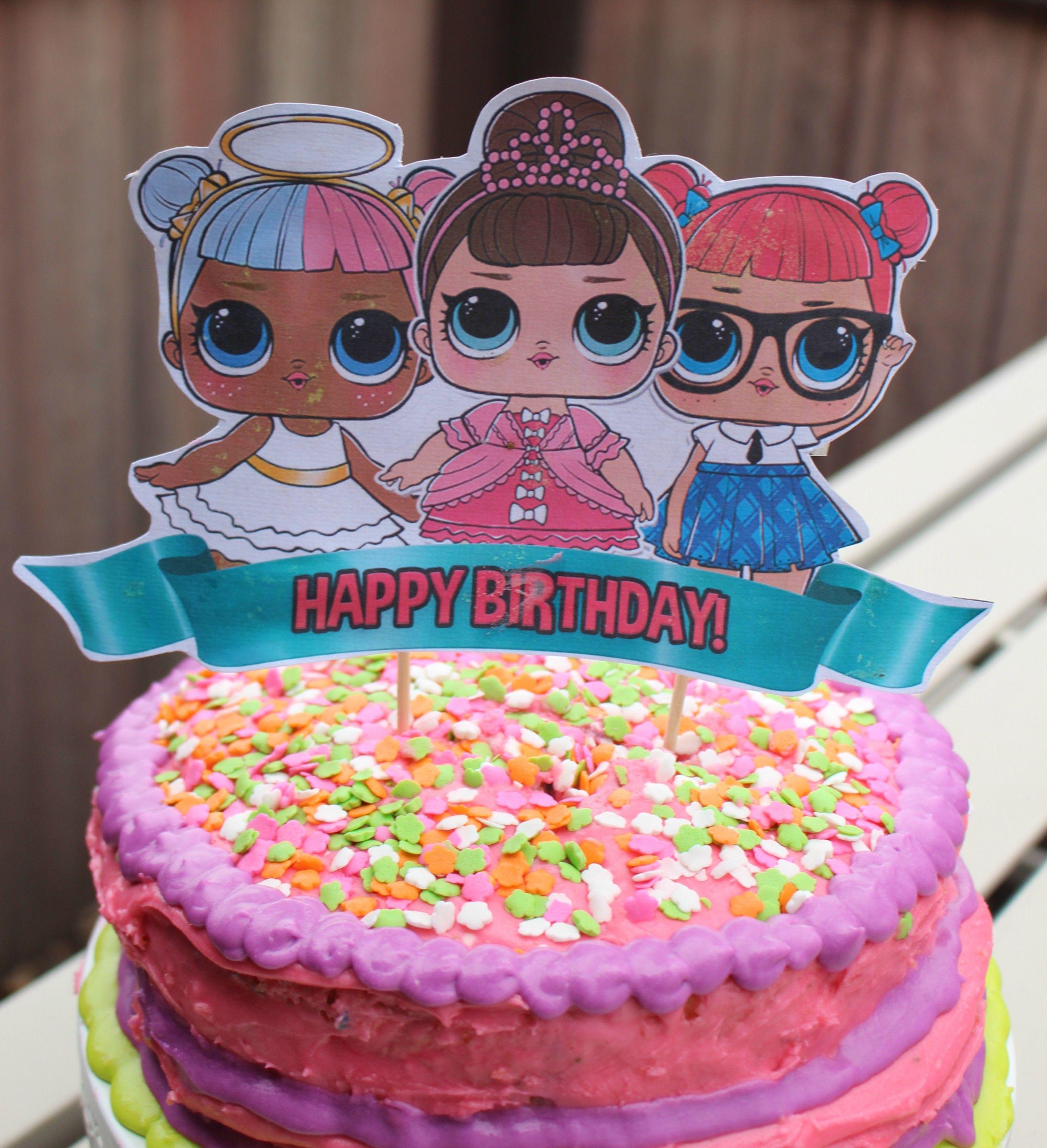 Easy Lol Surprise Doll Birthday Cake Superbowl Recap Lol Surprise