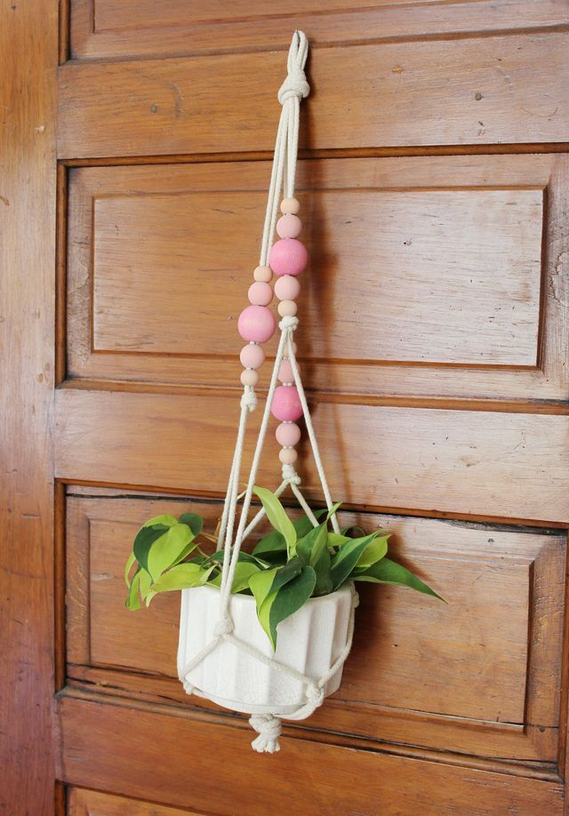 Colorful Copper Pipe Hanging Planter A