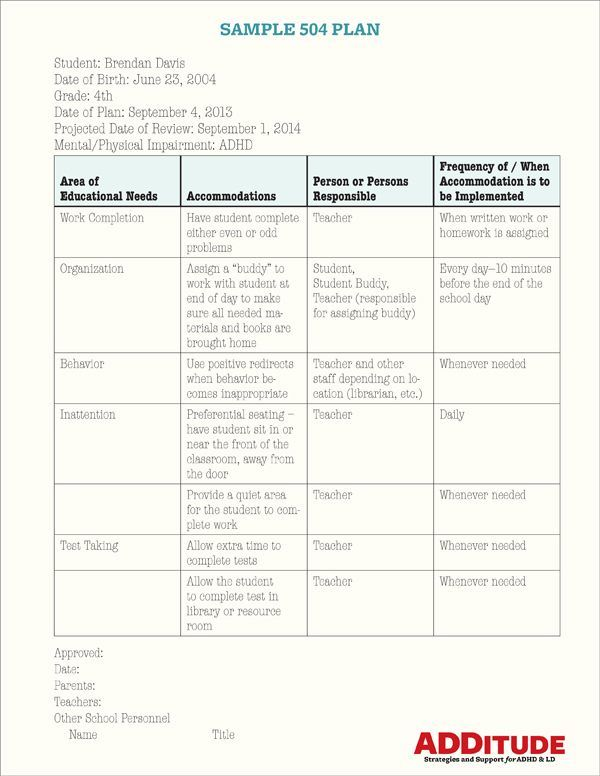 504 Plan Template - http\/\/wwwvalery-novoselskyorg\/504-plan - clinical child psychologist sample resume