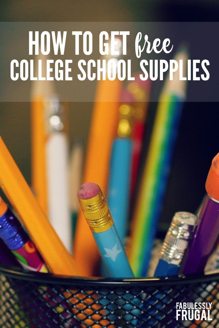 How to Get Cheap & Free School Supplies for College Students | DIY