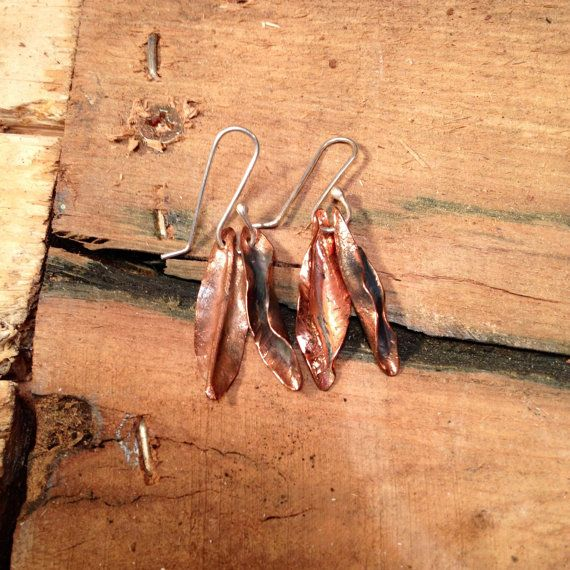 Love these: Leaf Earrings by jholdendesigns on Etsy