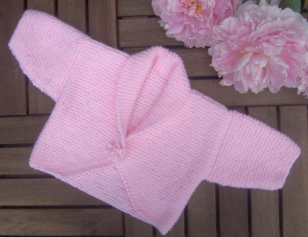 c3cbae457719 Baby Peonie Garter Stitch Cardigan