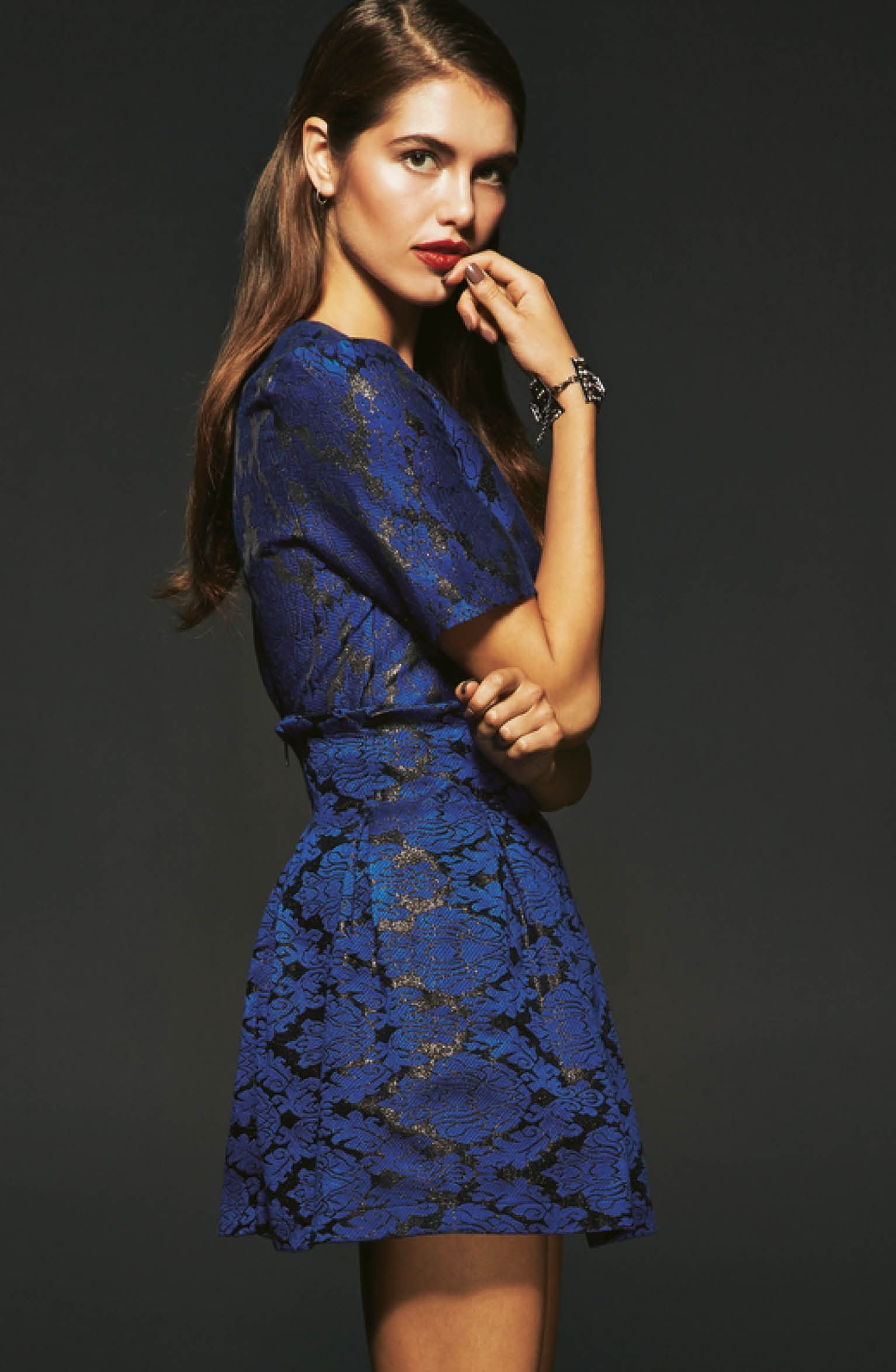 Fashion style Perfect the trend blue dress for girls