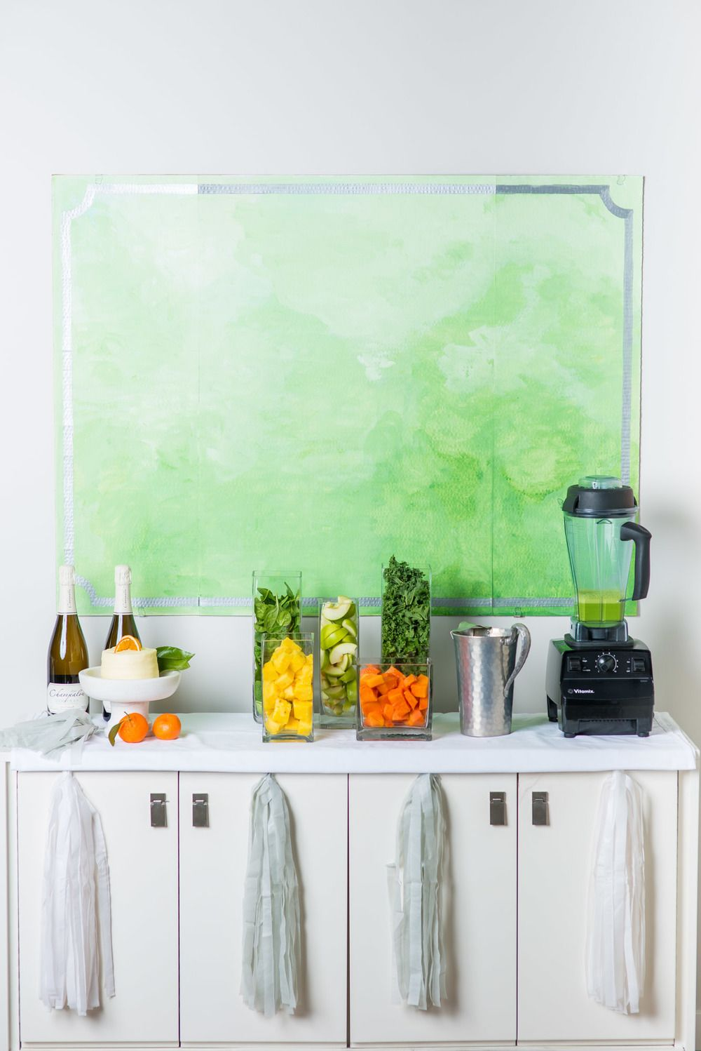 Love the idea of a green juice bar for a shower the
