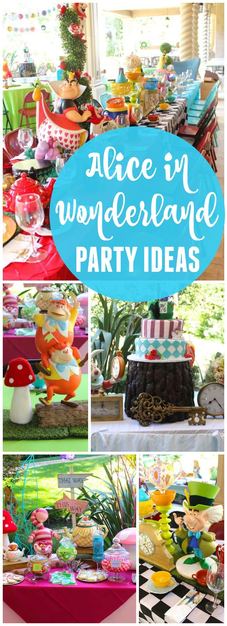 What an amazing Alice in Wonderland birthday party! See more party ideas at CatchMyParty.com!