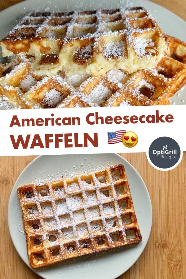 American Cheesecake Waffeln vom OptiGrill