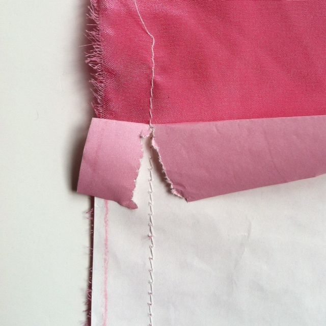 Mood How-To: Stabilizing Silk With Paper | All Things Sewing and ...