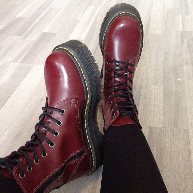 b305be6abea Newest shoes  Dr Martens Jadon Boots with platform in Cherry red. bought  them used