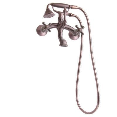 Giagni Traditional Wall Mount Tub Faucet with Metal Cross Handles