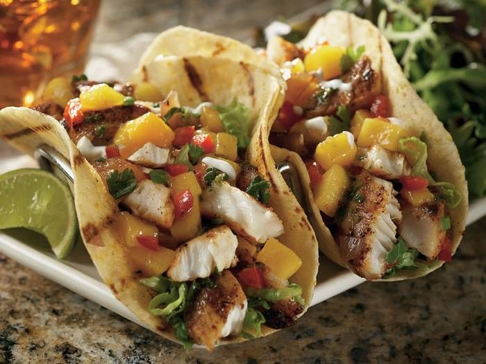 Bonefish grill fish tacos with mango salsa delicious for Bone fish and grill
