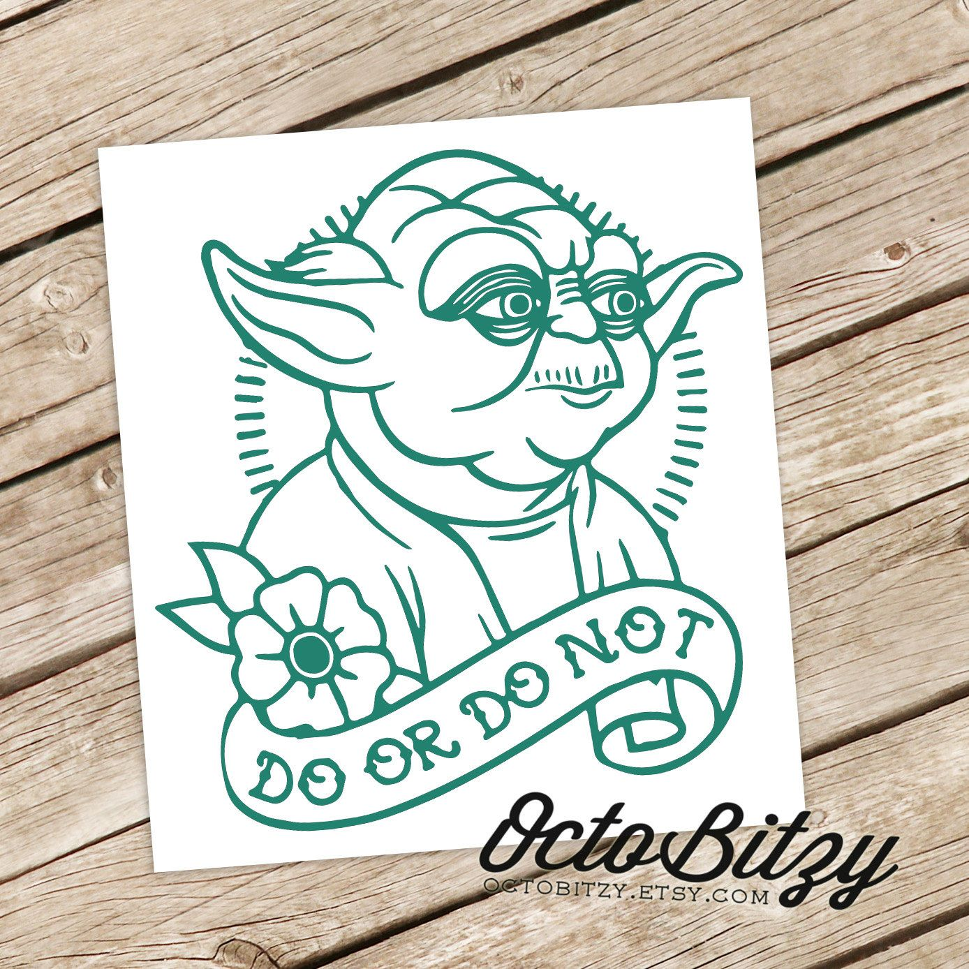 Yoda Do or Do Not Tattoo Style Decal Sticker von OctoBitzy auf Etsy