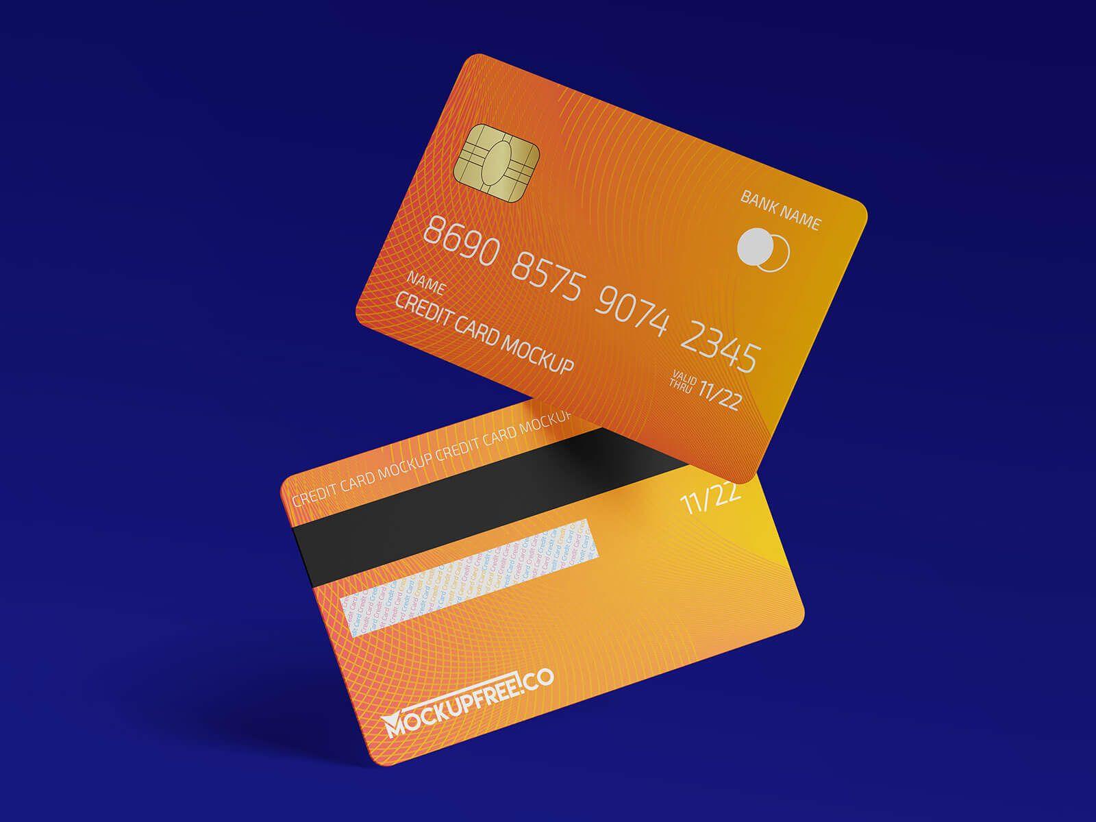 Free Plastic Credit Debit Bank Card Mockup Psd Set Good Mockups Business Cards Mockup Psd Bank Card Business Card Mock Up