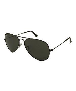 This Ray-Ban Black Aviator Sunglasses by Ray-Ban is perfect!  zulilyfinds 5a77f4d5e0