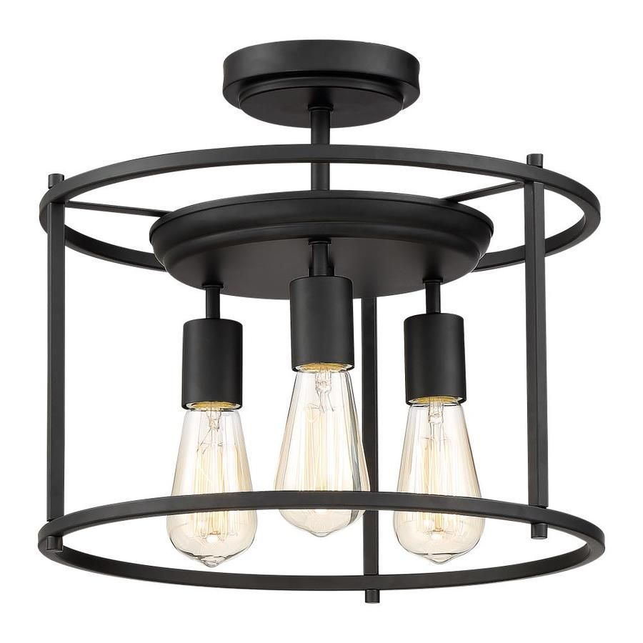 Quoizel Wolfeboro 14 In W Bronze Semi Flush Mount Light At Lowes