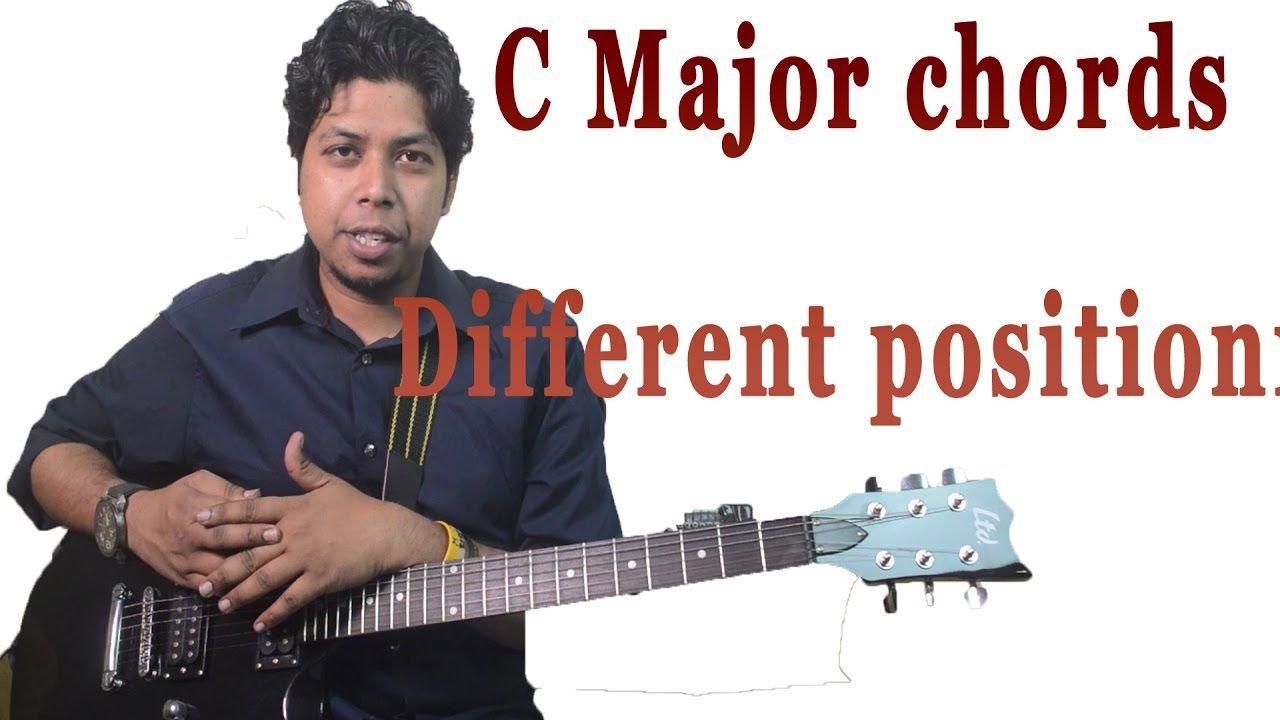 C Major Chords Different Position Guitar Lesson For Beginner