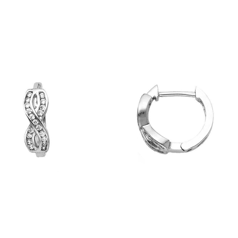 Ioka 14K Gold 3mm Thickness Huggies Hinged Earrings