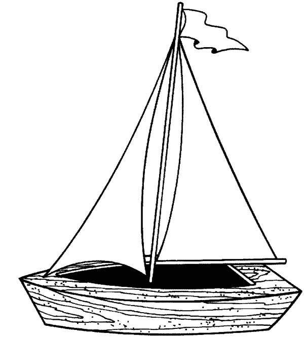 Traditional Fishing Boat Coloring Pages
