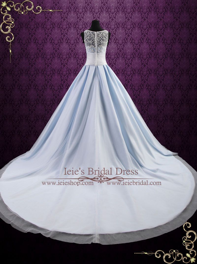 Ice blue ball gown wedding dress elsa in wedding dresses