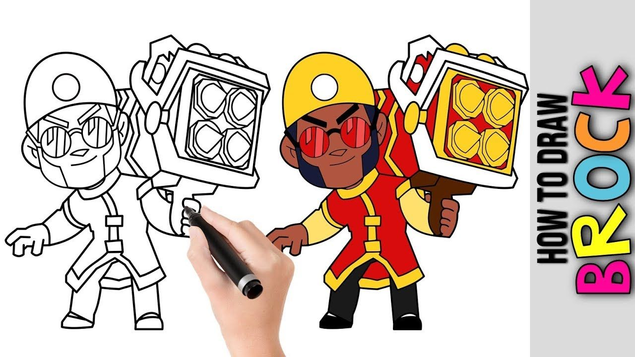 How To Draw Brock New Skins 2019 From Brawl Stars Cute Easy Drawings T Cute Easy Drawings Easy Drawings Drawing Tutorial Easy