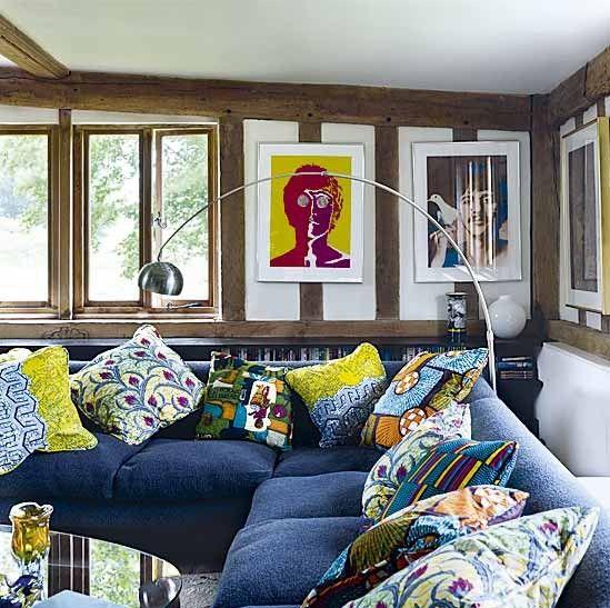 African wax print cloth cushions | Blues & greens | Pinterest ...