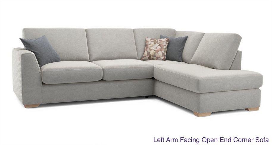 Eleanor Left Arm Facing Open End Corner Sofa Sherbet Dfs