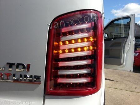 f2cf8f60d3 VW T5 Transporter Barndoor Rear Lights   Back Light   LED ( Red   Clear )