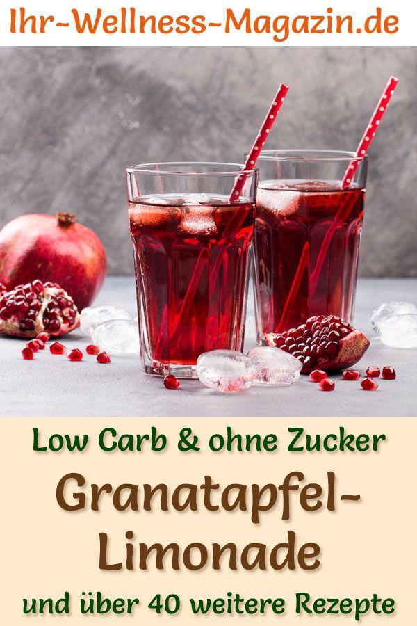 Granatapfel-Limonade selber machen - Low Carb & ohne Zucker #lemonade