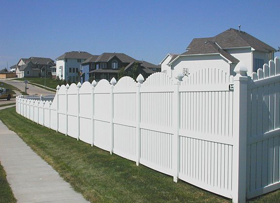 vinyl fence designs. Vinyl Fence Designs | Fencing: Scallop Over With Drop L