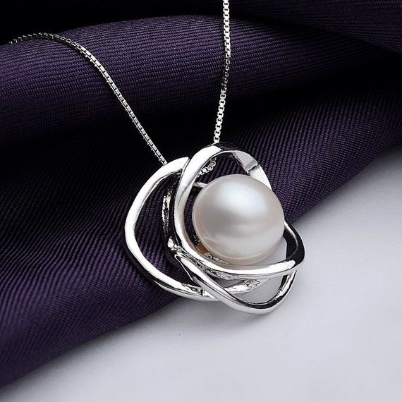 Real pearl pendantsilver necklaceflower pearl pendant necklace real pearl pendantsilver necklacesterling silver 925 flower pearl pendant necklacefreshwater mozeypictures Image collections