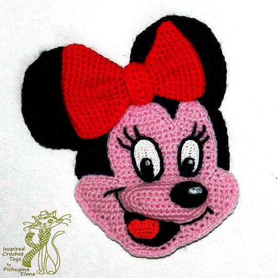 Häkelanleitung. Applikation. Minnie Mouse von InspiredCrochetToys