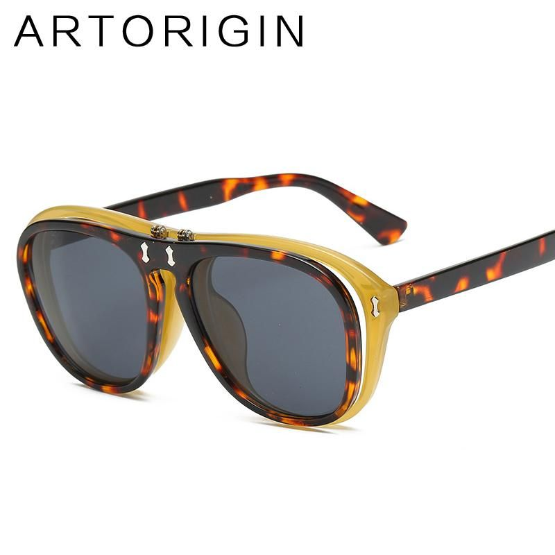 c0a38df4fe4 ARTORIGIN New 2018 Aviator Sunglasses Men Luxury Italian Brand Designer  Clamshell Man Sun Glasses Clear Fashion Eyewear Luntte