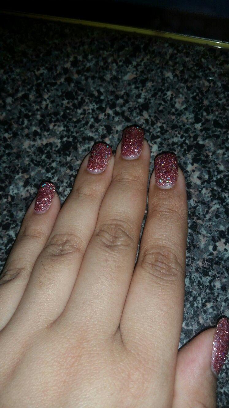 Pink Glitter Dip Powder