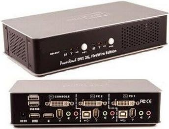 Usb Dvi Dual Link Kvm Switch 2port With Simple Plugs And Push Buttons Dvi Usb Switches