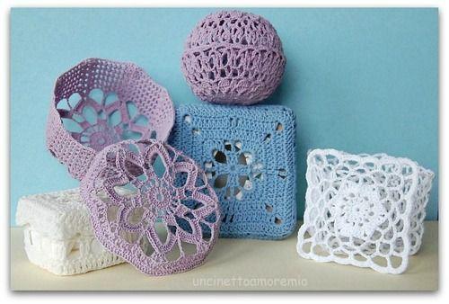 Scatoline Bomboniere Uncinetto Inamidato Crochet Crochet Box