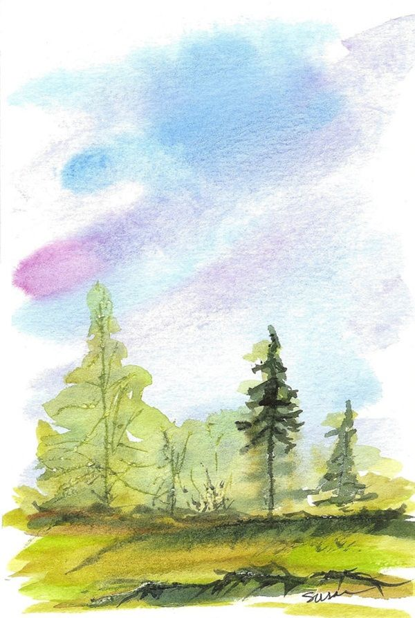 Simple Watercolor Painting Ideas28