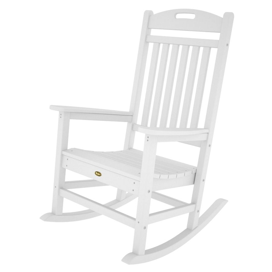 Beautiful Trex Rocking Chairs #22 - Trex Outdoor Furniture Yacht Club Classic White Plastic Patio Rocking Chair