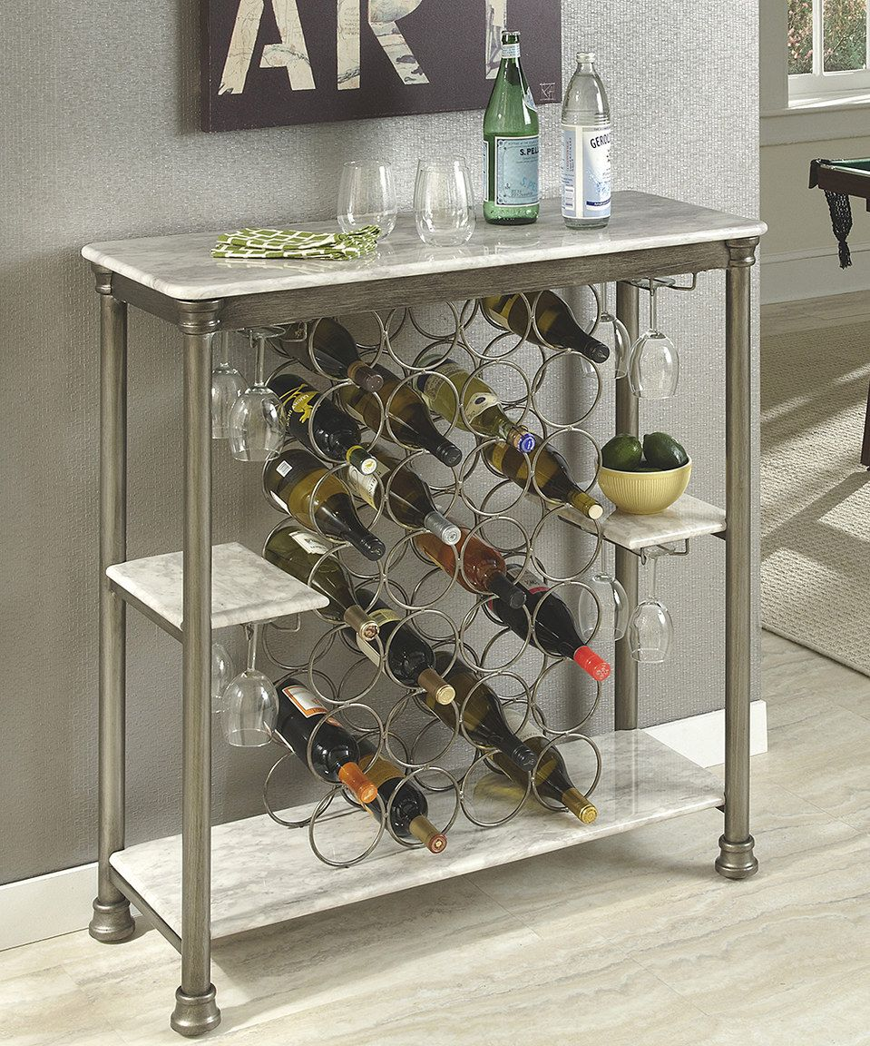 Look at this #zulilyfind! Home Styles Faux Marble Orleans Storage Wine Rack by Home Styles #zulilyfinds
