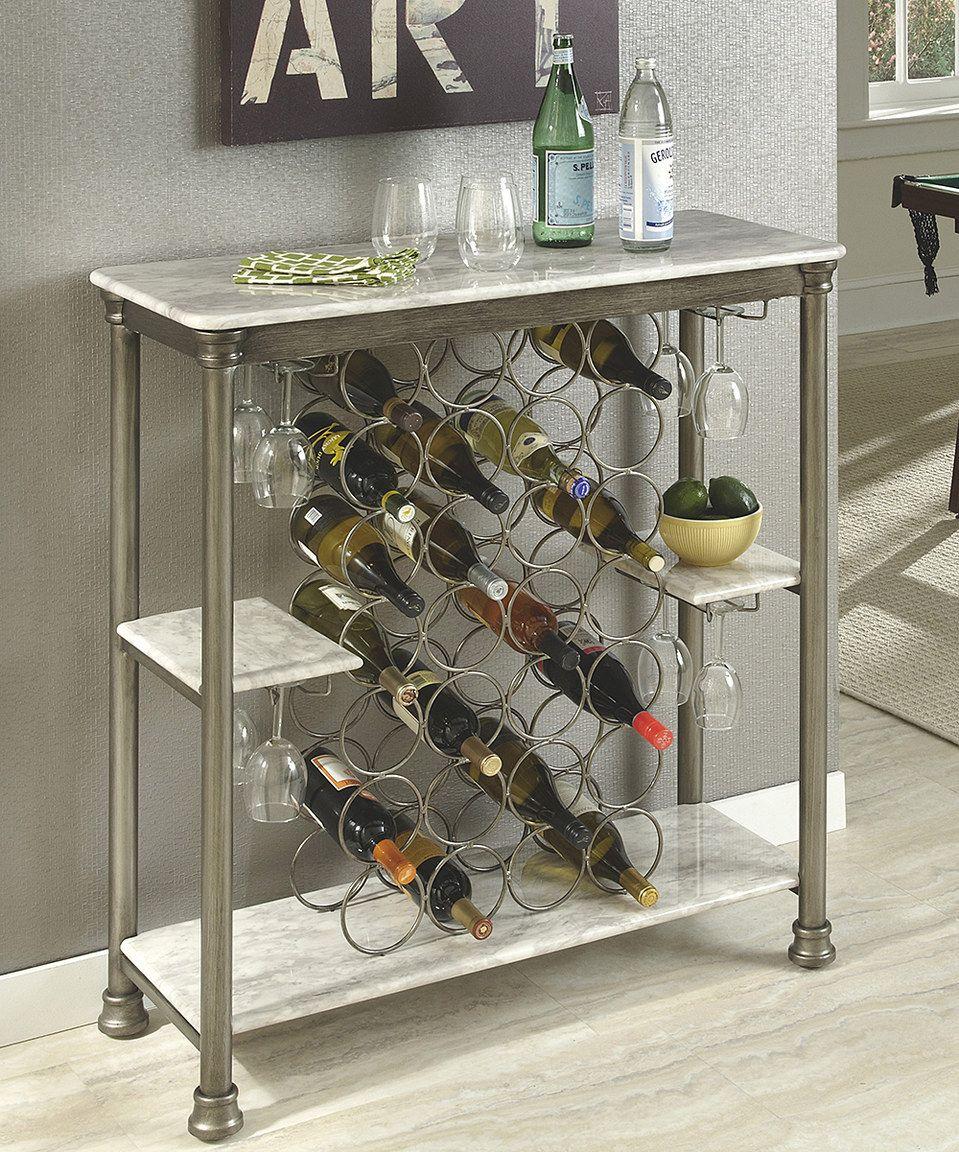 Look at this #zulilyfind! Home Styles Faux Marble Orleans Storage Wine Rack by Home Styles #zulilyfinds