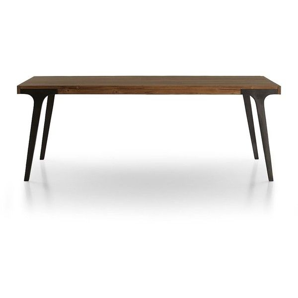 Crate Barrel Lakin Recycled Teak Extendable Dining Table 1 770