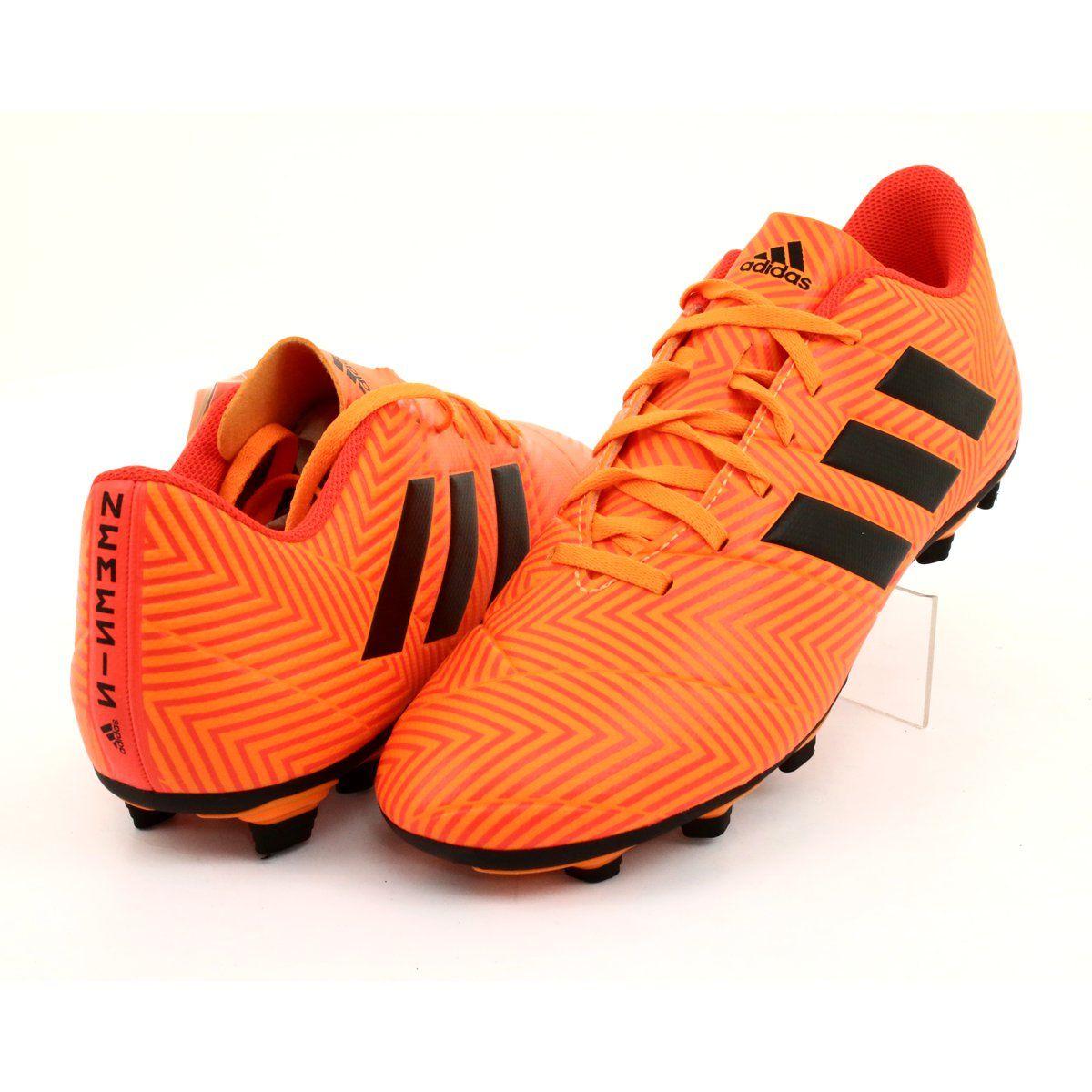 Buty Pilkarskie Adidas Nemeziz 18 4 Fxg M Da9594 Pomaranczowe Football Shoes Shoes Adidas Shoes