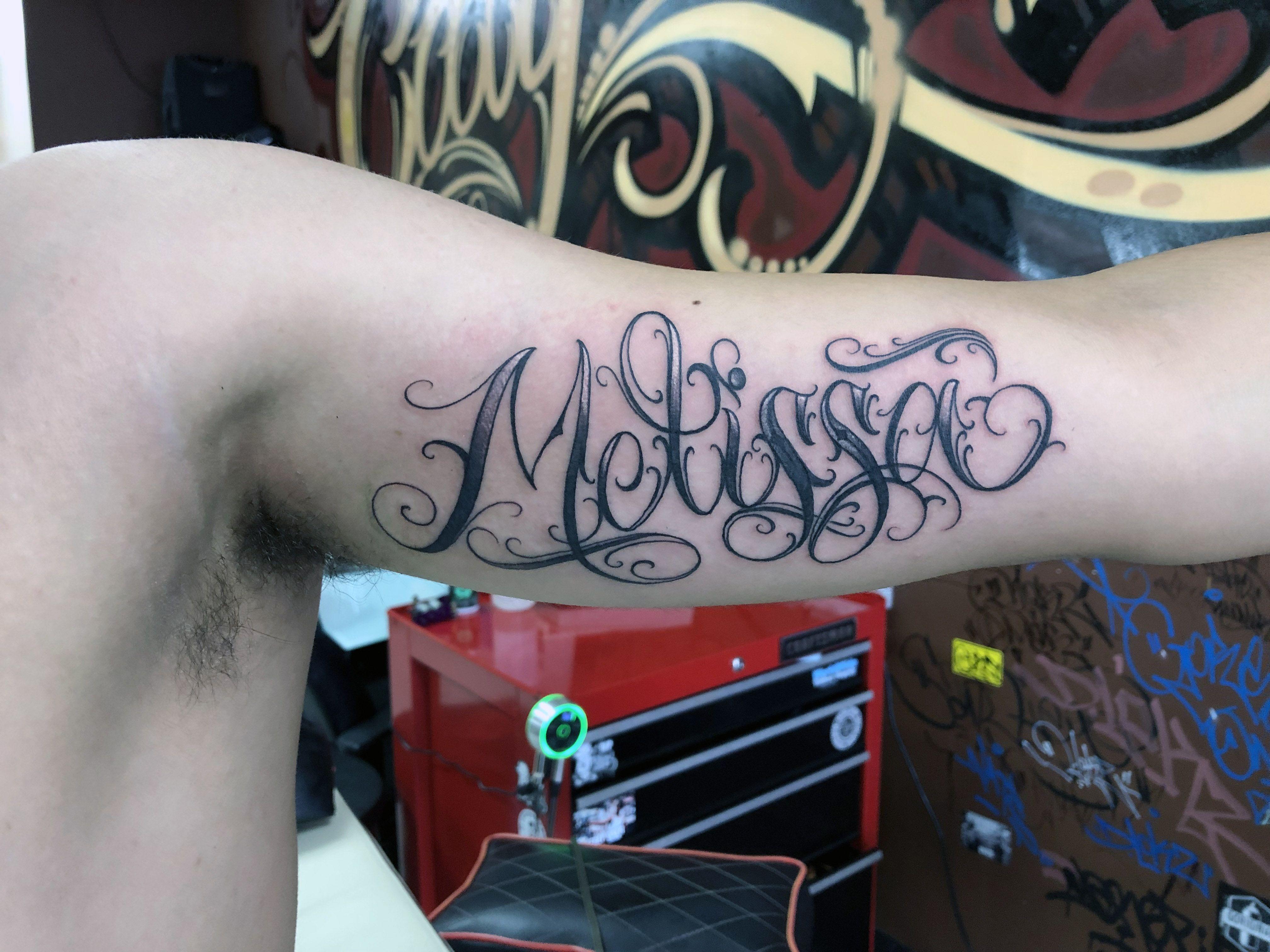 Custom Freehand Name Tattoo Name Tattoo Free Hand Tattoo Tattoos