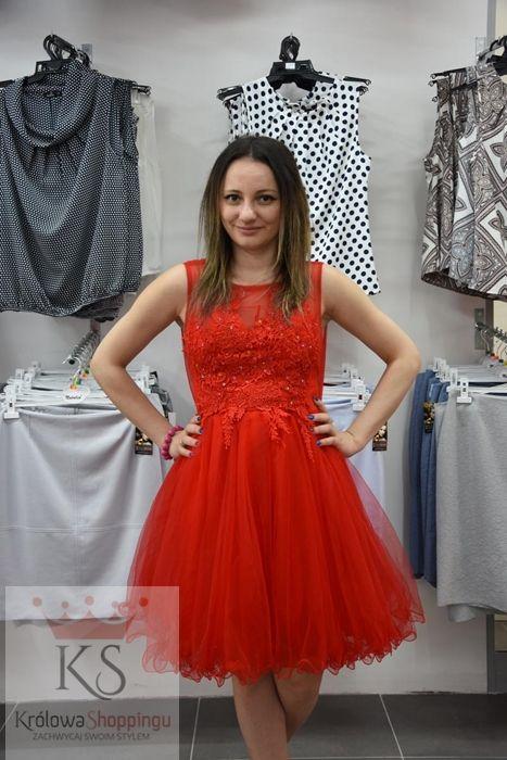 48287633c7 Czerwona sukienka koktajlowa z tiulem    fashion4u.pl  sukienka  sukienki   sukienkanawesele