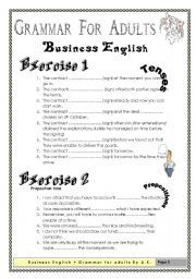 English Worksheets: Grammar for Adults (Business English ...