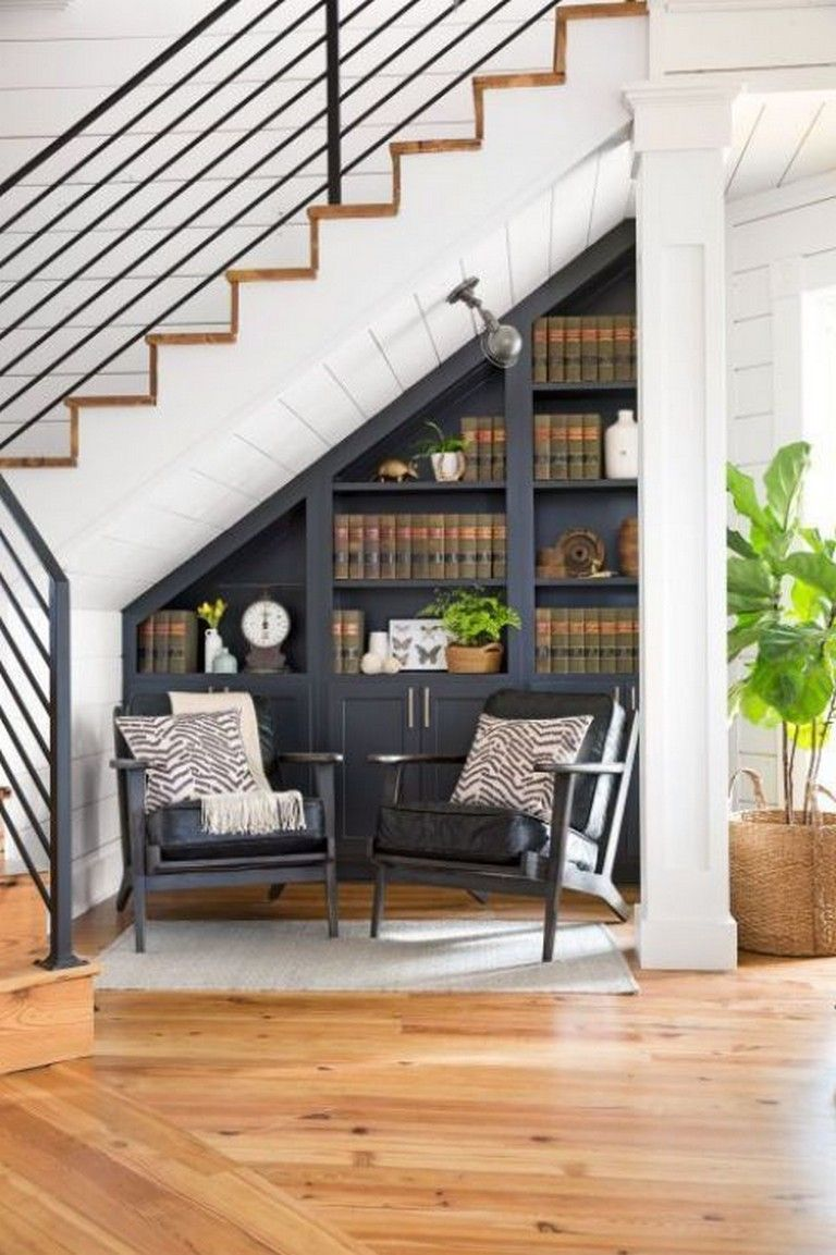 45+ Elegant Ideas for Under Stairs Storage Space Living