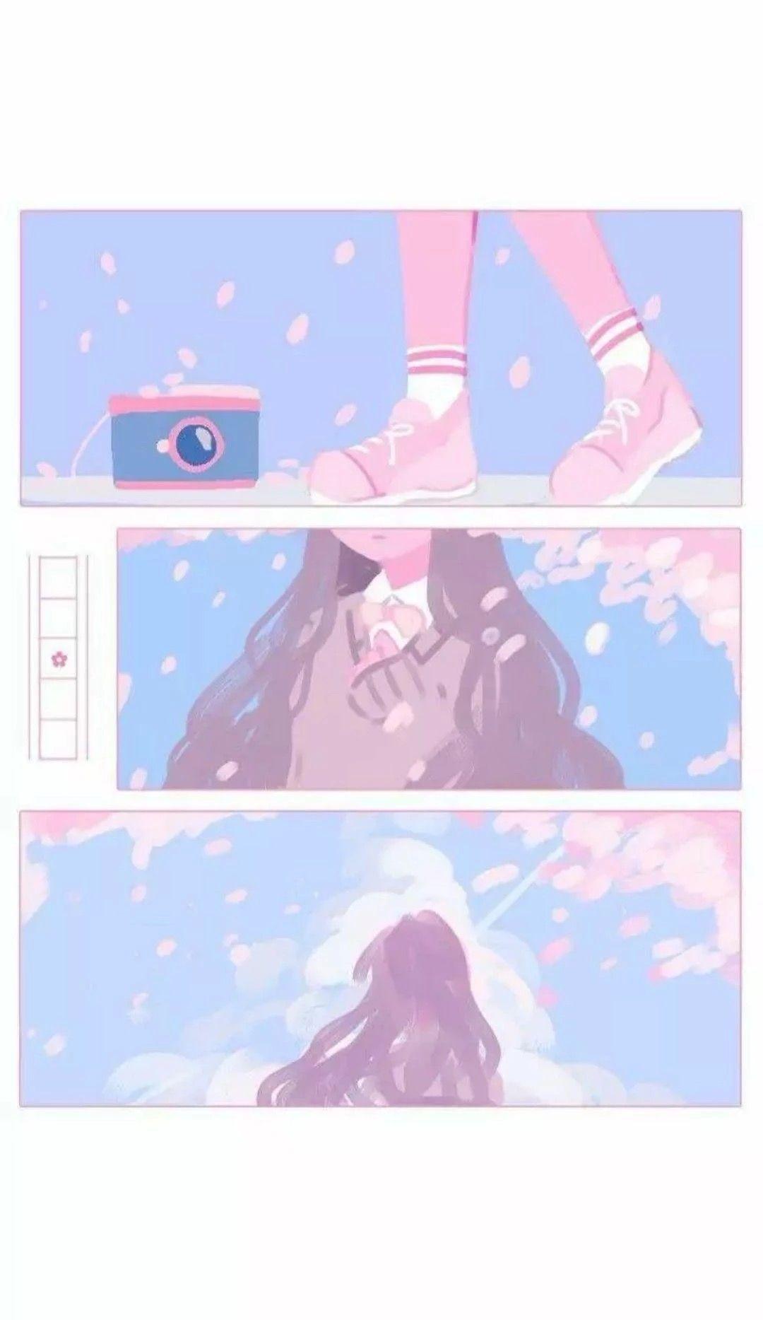Soft Aesthetic Anime Phone Backgrounds Http Wallpapersalbum Com Soft Aesthetic Anime Phone Backgrounds Html In 2020 Aesthetic Anime Anime Wallpaper Cute Art